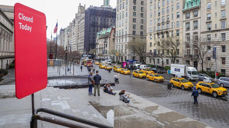 Le Metropolitan Museum de New York fermé, le 13 mars 2020 (WILLIAM VOLCOV / MAXPPP)