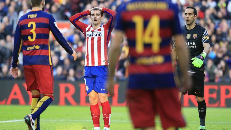 Antoine Griezmann (Atlético Madrid) face au Barça (PAU BARRENA / AFP)