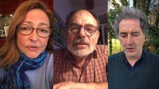Vingt-neuf comédiennes et comédiens ont lu les témoignages de familles ayant perdu un proche des suites du Covid-19. (FRANCEINFO)