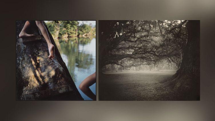 "A gauche, Sally Mann, ""Bean's Bottom"", 1991, Cibachrome, collection privée - A droite, Sally Mann, ""Deep South, Untitled (Fontainebleau)"", 1998, Washington, National Gallery of Art, don de Stephen G. Stein Employee Benefit Trust (© Sally Mann à droite et à gauche)"