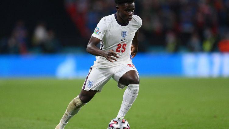 Bukayo Saka lors de la finale de l'Euro 2021, le 11 juillet à Wembley. (LAURENCE GRIFFITHS / AFP)