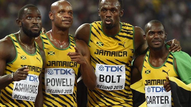 Ashmeade, Powell, Bolt et Carter champions du monde (OLIVIER MORIN / AFP)