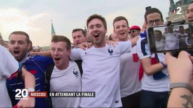 Coupe du monde : les supporters à Moscou attendent la finale
