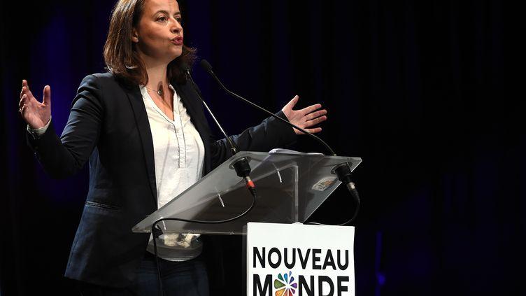Cécile Duflot, le 12 novembre 2015 à Montpellier (Hérault). (PASCAL GUYOT / AFP)