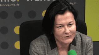 Elisabeth Tomé-Gertheinrichs, secrétaire générale de la Fédération hospitalière privée, le 3 février 2017 sur franceinfo. (RADIO FRANCE / CAPTURE D'ÉCRAN)