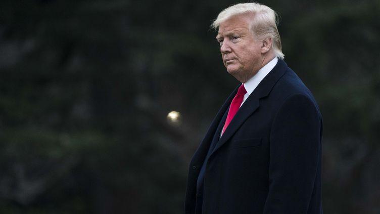 Le président américain, Donald Trump, à Washington, le 28 janvier 2020. (SARAH SILBIGER / GETTY IMAGES NORTH AMERICA / AFP)