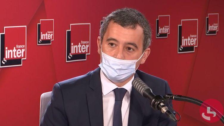 Gérald Darmanin, ministre de l'Intérieur, sur France Inter le 27 octobre 2020. (FRANCEINTER / RADIOFRANCE)