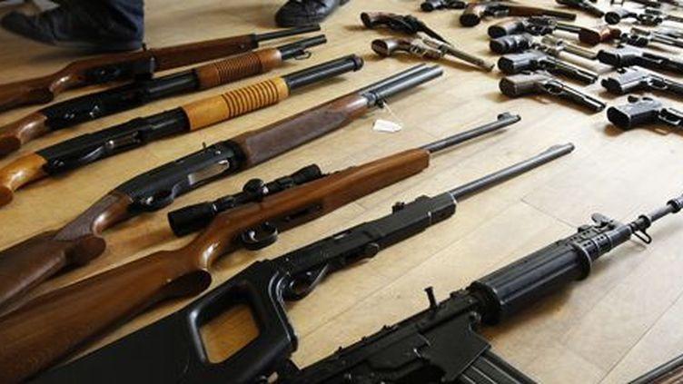 Armes à feu saisies par la police belge (12 mai 2011) (REUTERS - Thierry Roge)