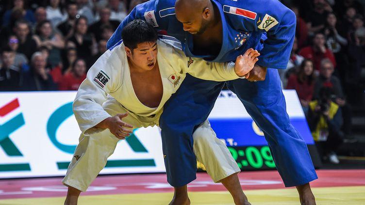 Le judoka Teddy Riner, lors du Judo Paris Grand Slam 2020. (LUCAS BARIOULET / AFP)