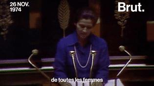 Au perchoir de l'Assemblée nationale en 1974, Simone Veil a prononcé l'un de ses discours les plus iconiques : celui qui a légalisé l'IVG en France. (Brut)