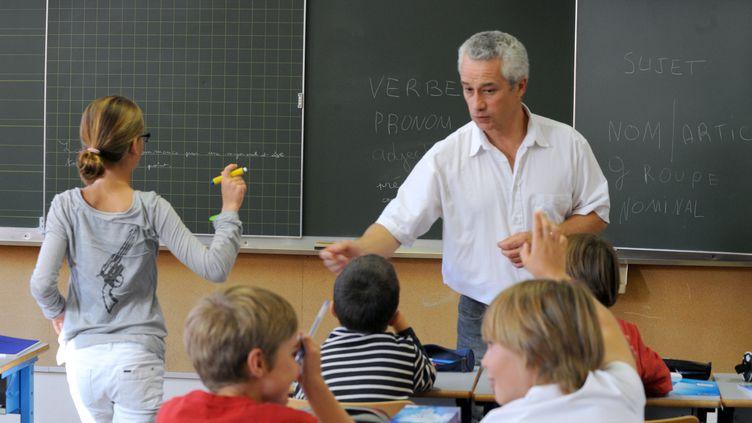 Une classe à Nantes lors de la rentrée scolaire, le 5 septembre 2011. (FRANK PERRY / AFP)
