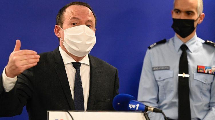 Le procureur de la République de Rennes (Ile-et-Vilaine), Philippe Astruc, le 20 mars 2021. (DAMIEN MEYER / AFP)