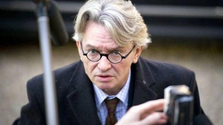 Jean-Claude Mailly arrive à l'Elysée, le 18 janvier 2012. (AFP - Lionel Bonaventure)