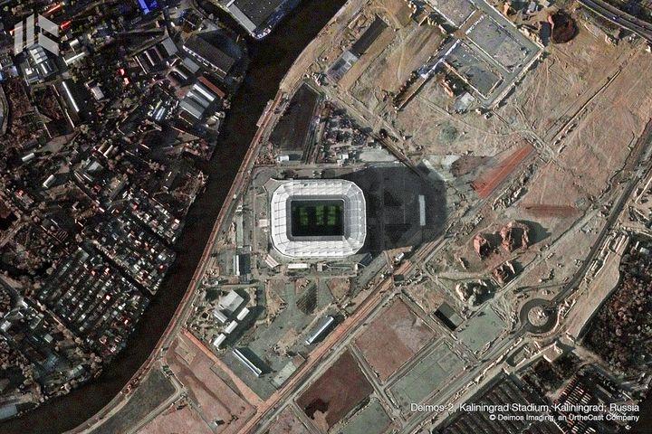 Le Kaliningrad Stadium a une capacité de 35 000 personnes. (DEIMOS IMAGING / URTHECAST)