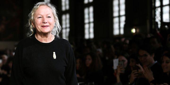 La styliste Agnès b. en mars 2017 à Paris  (ALAIN JOCARD / AFP)