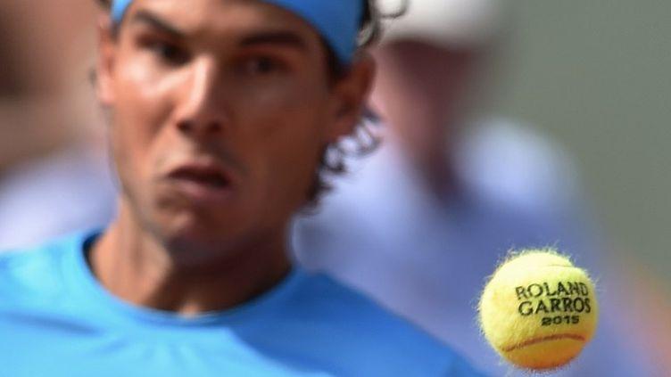 Rafael Nadal, en quête d'un dixième sacre à Roland-Garros (PASCAL GUYOT / AFP)