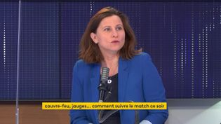 Roxana Maracineanu, ministre déléguée chargée des Sports, était l'invitée de franceinfo mardi 15 juin. (FRANCEINFO / RADIOFRANCE)