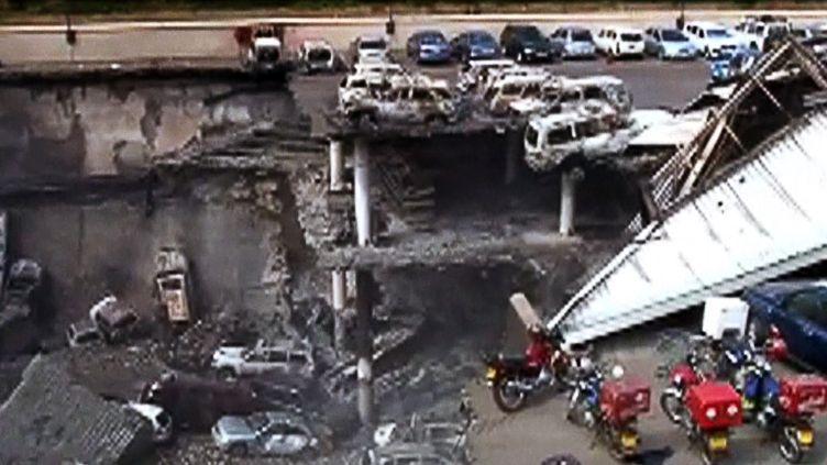 Le parking aérien du centre commercial Westgate, à Nairobi (Kenya), le jeudi 26 septembre. (AFP / KENYA MILITARY)