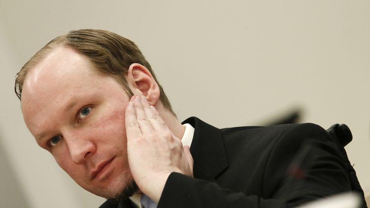 Anders Behring Breivik durant son procès à Oslo (Norvège) le 22 juin 2012. (HEIKO JUNGE / AFP)