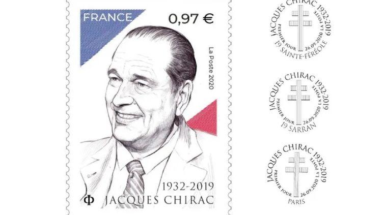Le timbre à l'effigie de l'ancien président de la République sera mis en vente le 28 septembre prochain. (LA POSTE)