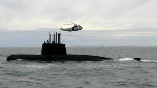 """Le sous-marin argentin """"Ara San Juan"""", près de Buenos Aires, en 2013. (AP / SIPA)"""