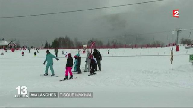Avalanches : risque maximal