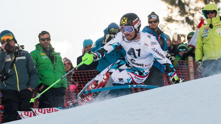 Marcel Hirscher, trop fort pour la concurrence (JURE MAKOVEC / AFP)