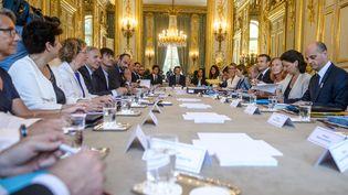Conseil des ministres, le 22 juin 2017 au palais de l'Elysée. (CHRISTOPHE PETIT-TESSON / AFP)