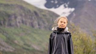 Greta Thunberg,militante suédoise pour le climat près de la montagne Ahkka en Laponie, le 13 juillet 2021.  (CARL-JOHAN UTSI / TT NEWS AGENCY / AFP)
