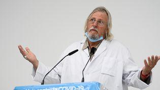 Le professeur Didier Raoult, directeur de l'IHU à Marseille (Bouches-du-Rhône) le 27 août 2020 (CHRISTOPHE SIMON / AFP)