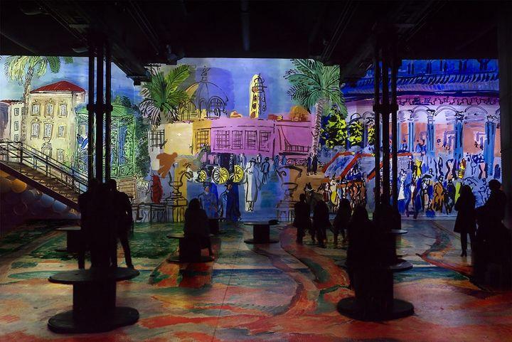 """Exposition """"Monet, Renoir... Chagall. Voyages en Méditerranée"""" (Atelier des Lumières, Paris)"""