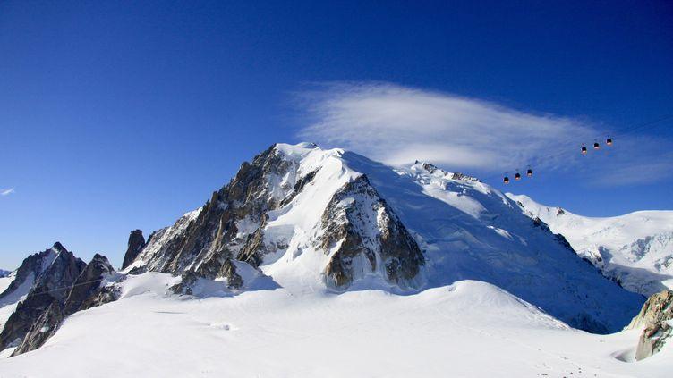 Le téléphérique panoramique du Mont-Blanc. (LIONEL CARIOU / RADIO FRANCE)
