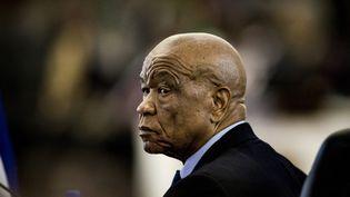 Le Premier ministre du Lesotho, Thomas Thabane, photographié le 19 août 2017. (GULSHAN KHAN / AFP)