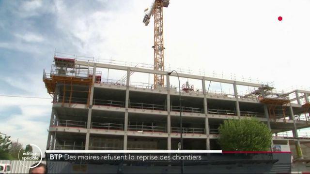 Île-de-France : des maires interdisent la reprise des chantiers