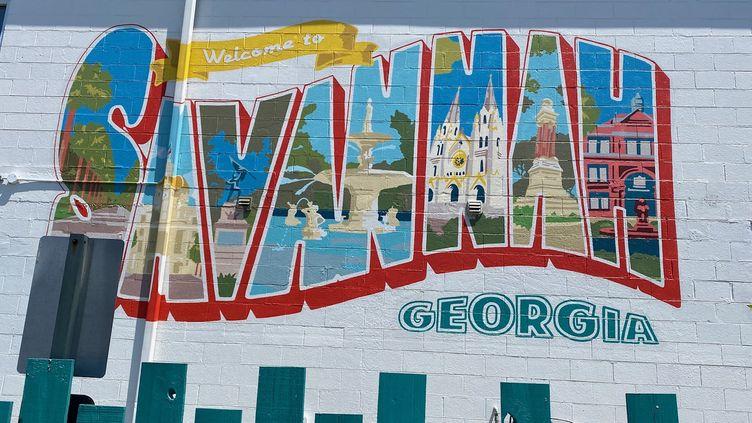 Savannah, l'une des villes les plus touristiques de Géorgie, le premier État américain à avoir repris une activité normale après les restrictions liées au Covid-19, en mai 2020. (GRÉGORY PHILIPPS / RADIO FRANCE)