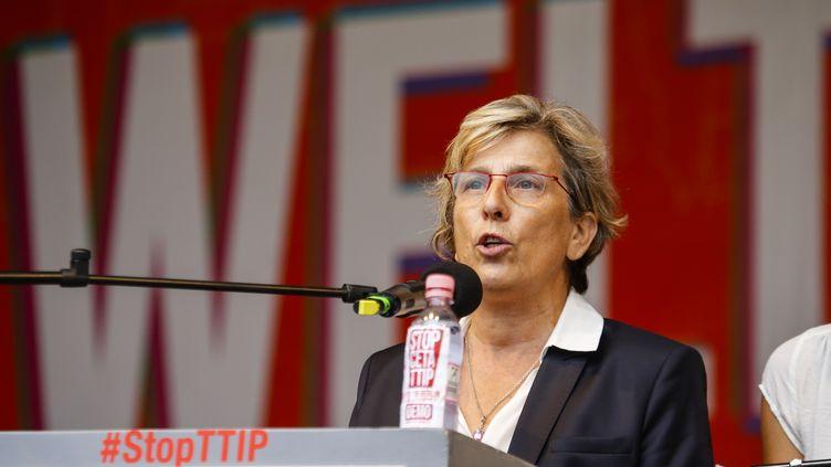 Marie-NoëlleLienemann, candidate à la primaire de gauche, le 17 septembre 2016. (ODD ANDERSEN / AFP)