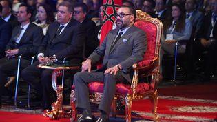 Le roi Mohammed VI lors de l'inauguration de l'usine PSA de Kenitra le 20 juin 2019. (FADEL SENNA / AFP)