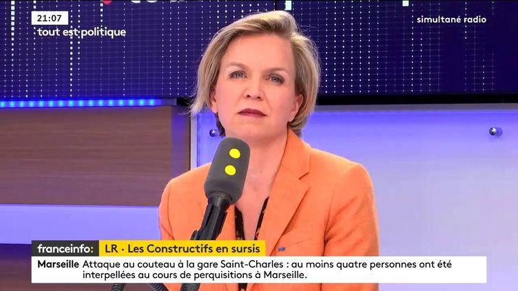 """Virginie Calmels était l'invitée de """"Tout est politique"""", mardi sur franceinfo. (FRANCEINFO)"""