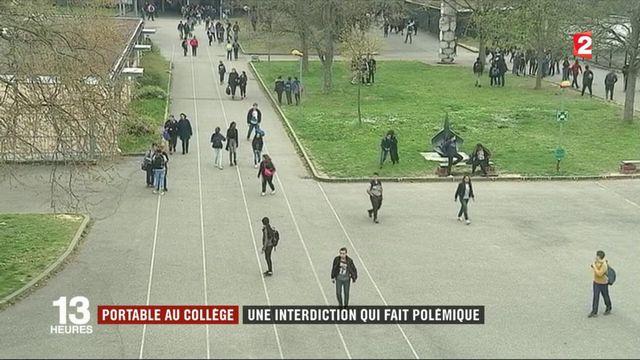 Education : l'interdiction du portable au collège divise