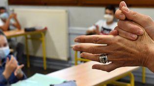 La rentrée scolaire version coronavirus (photo d'illustration). (PHOTOPQR/L'EST REPUBLICAIN/MAXPP)