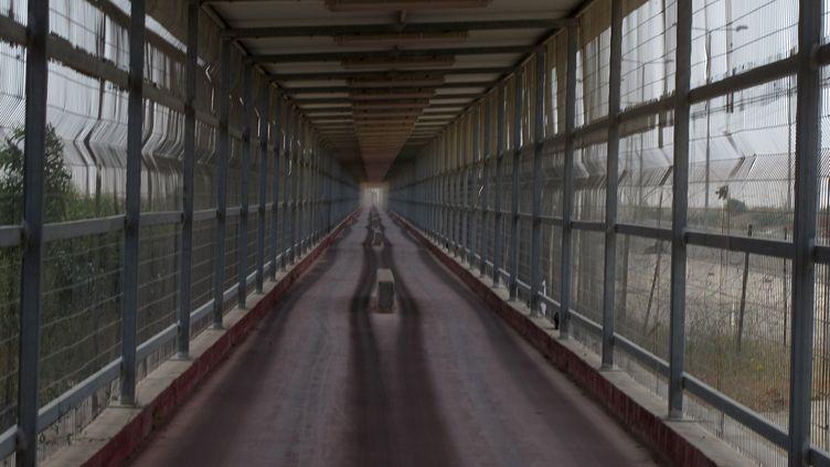 Le point de passage d'Erez, entre Gaza et Israel, photographié le 16 mai 2012. (PATRICK BAZ / AFP)