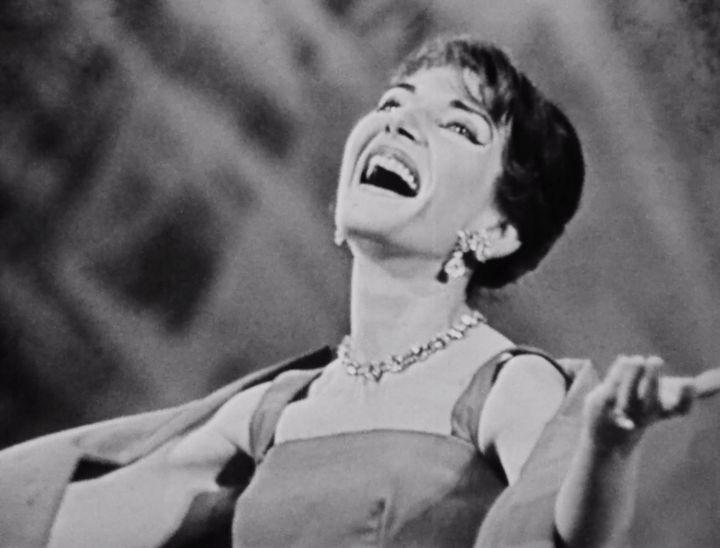 La Callas lors d'un récital à l'Opéra Garnier dans les années 1960. (Opéra de Paris)