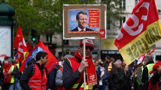 """Manifestation des """"gilets jaunes"""", le 27 avril 2019 à Paris. (ZAKARIA ABDELKAFI / AFP)"""