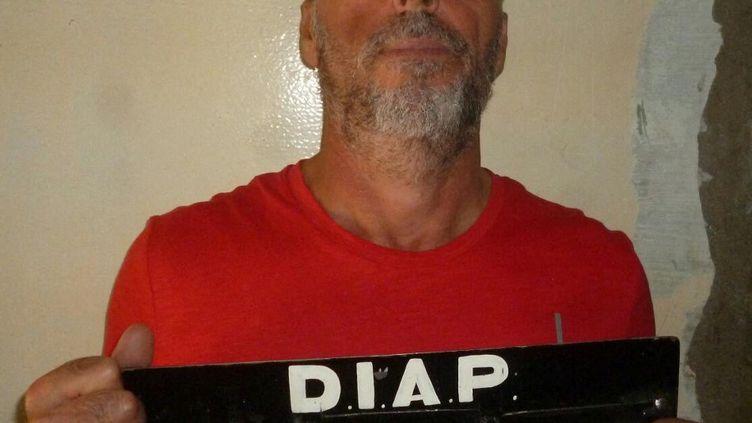 Le mafieux Rocco Morabito, lors de sa précédente arrestation en septembre 2017 à Montevideo (Uruguay). (URUGUAY'S INTERIOR MINISTRY / AFP)