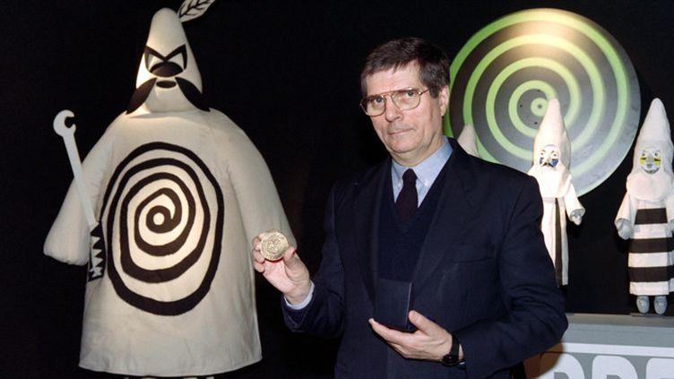 Jean-Christophe Averty le 4 décembre 1992 à Paris, à une exposition présentant son travail  (Gabriel Bouys / AFP)