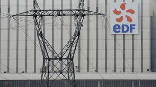 Le logo EDF sur la centrale de Blénod-lès-Pont-à-Mousson (Meurthe-et-Moselle). Photo d'illustration. (JEAN-CHRISTOPHE VERHAEGEN / AFP)