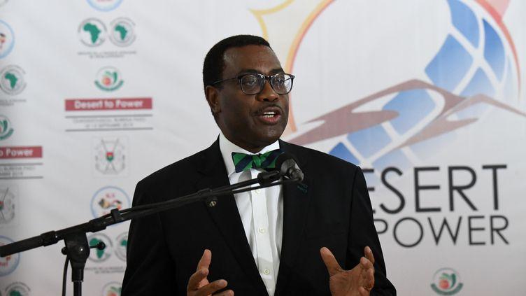 Le président de la Banque africaine de développement (BAD),Akinwumi Adesina,a été disculpé de toute mauvaise gestion par un panel d'experts. Photo prise le 13 septembre 2019 à Ouagadougou, au Burkina Faso, lors d'une conférence du G5-Sahel. (ISSOUF SANOGO / AFP)