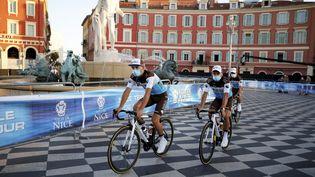 Lors de la présentation des équipes du Tour de France 2020 sans public, place Masséna à Nice (photo d'illustration). (DYLAN MEIFFRET / MAXPPP)