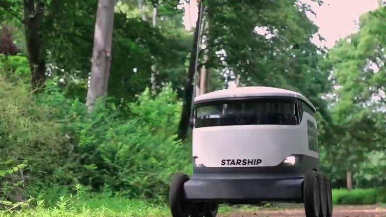 Angleterre : un robot-cargo livre les courses à domicile (France 2)