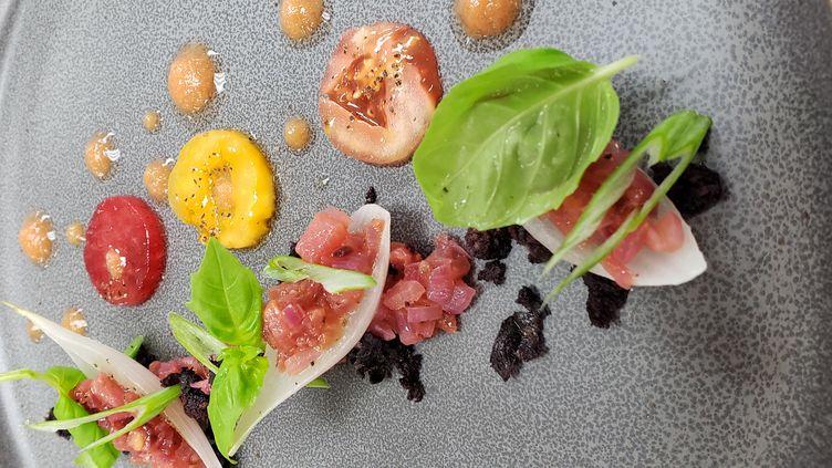 Tomates confites et prunes (VINCENT CATALA)